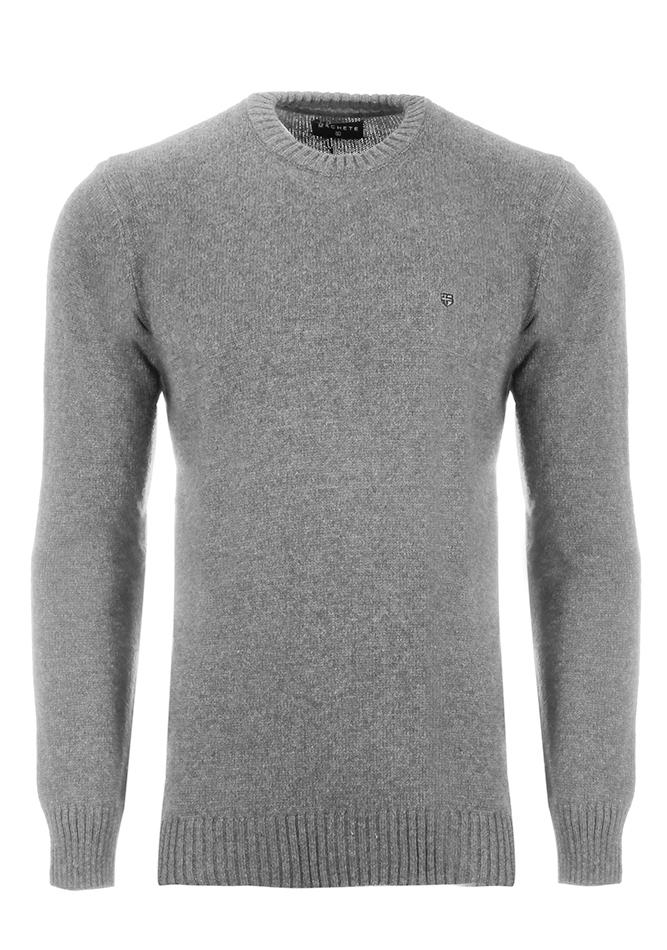 Ανδρική Πλεκτή Μπλούζα Clearly Grey αρχική άντρας