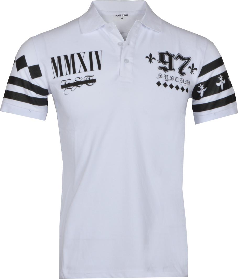 Ανδρικό Polo System 97-Άσπρο αρχική ανδρικά ρούχα polo