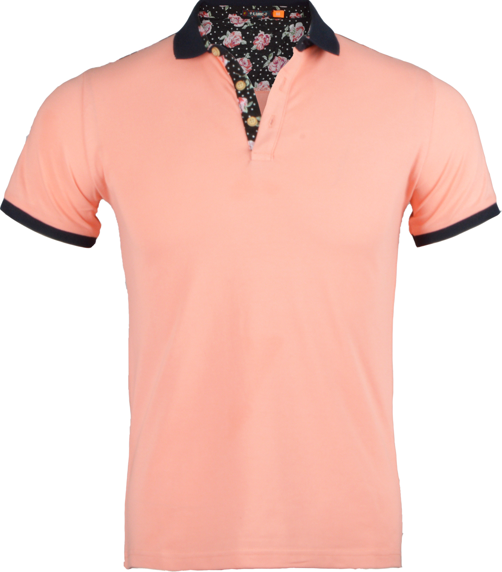 Ανδρικό Polo Flower Rules-Ροζ αρχική ανδρικά ρούχα polo