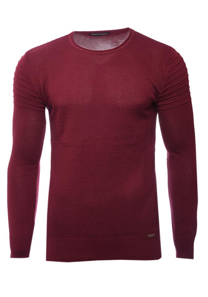 Ανδρική Πλεκτή Μπλούζα Roy Bordeaux αρχική ανδρικά ρούχα