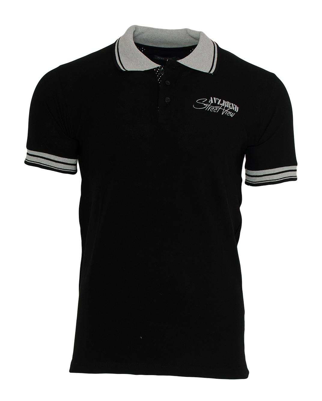 Ανδρικό Polo Street Black αρχική ανδρικά ρούχα polo
