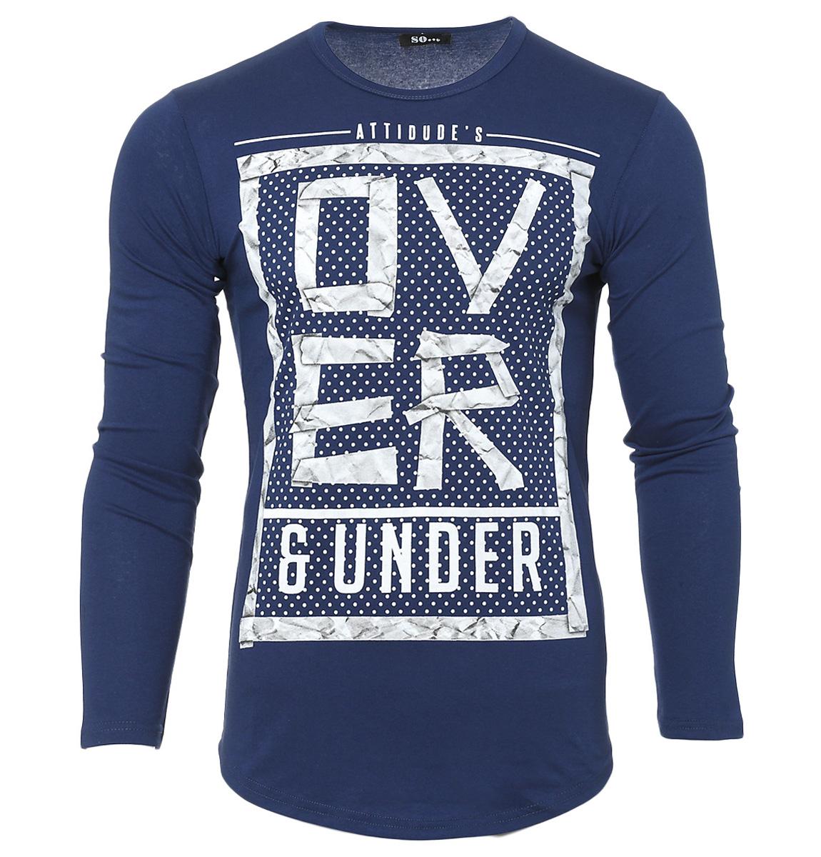 Ανδρική Μπλούζα Over-Μπλε αρχική ανδρικά ρούχα μπλούζες