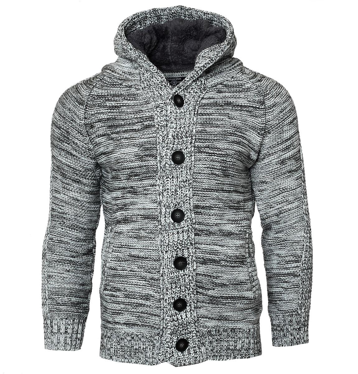 Πλεκτή Ζακέτα Zen Grey αρχική ανδρικά ρούχα ζακέτες