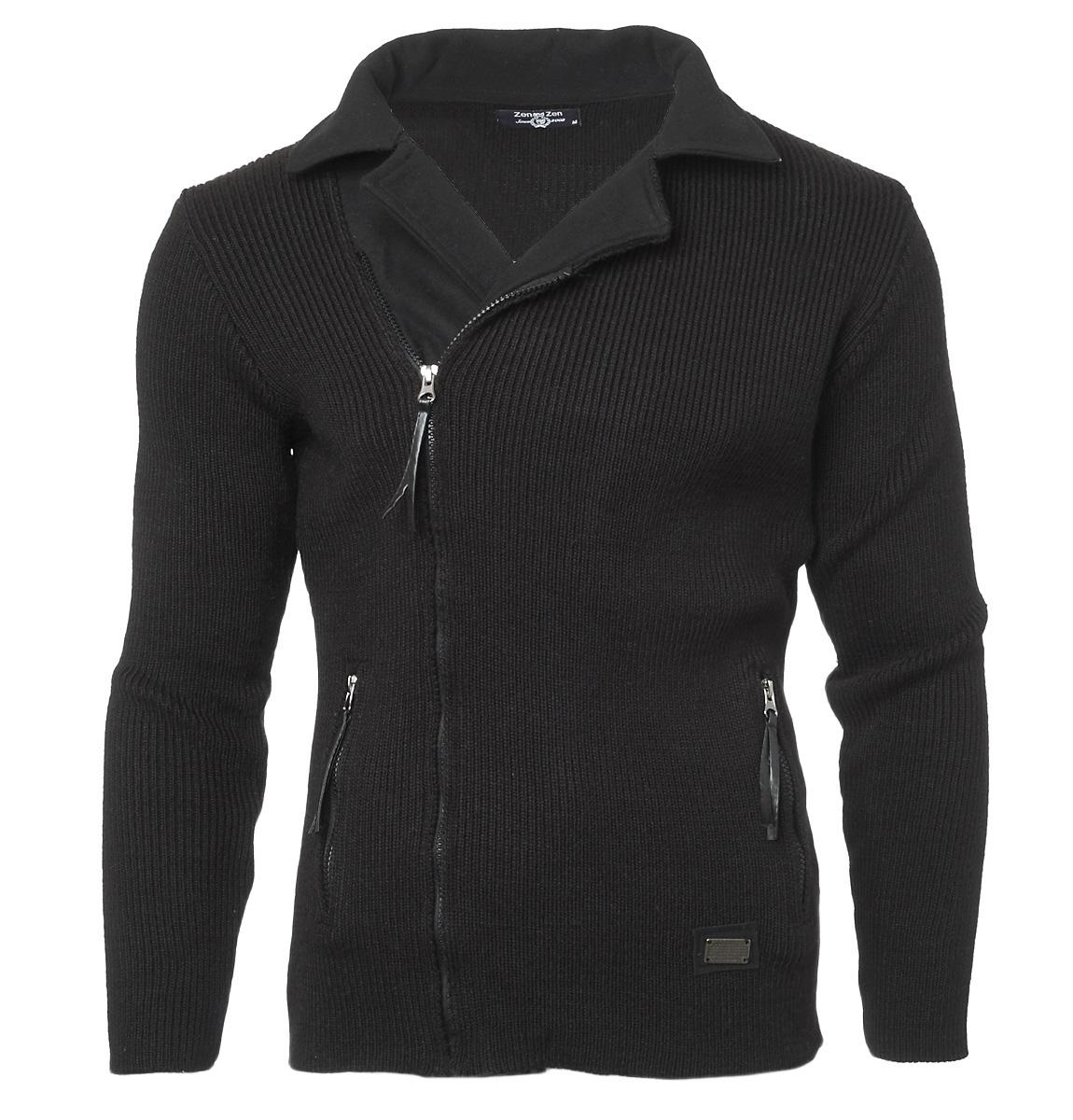 Πλεκτή Ζακέτα Zen Polo-Γκρι Σκούρο αρχική ανδρικά ρούχα ζακέτες