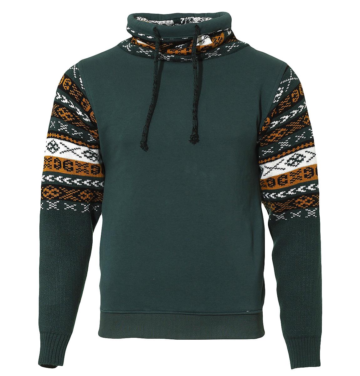 Ανδρικό Φούτερ Knitwear Sleeves-Κυπαρισσί αρχική ανδρικά ρούχα φούτερ