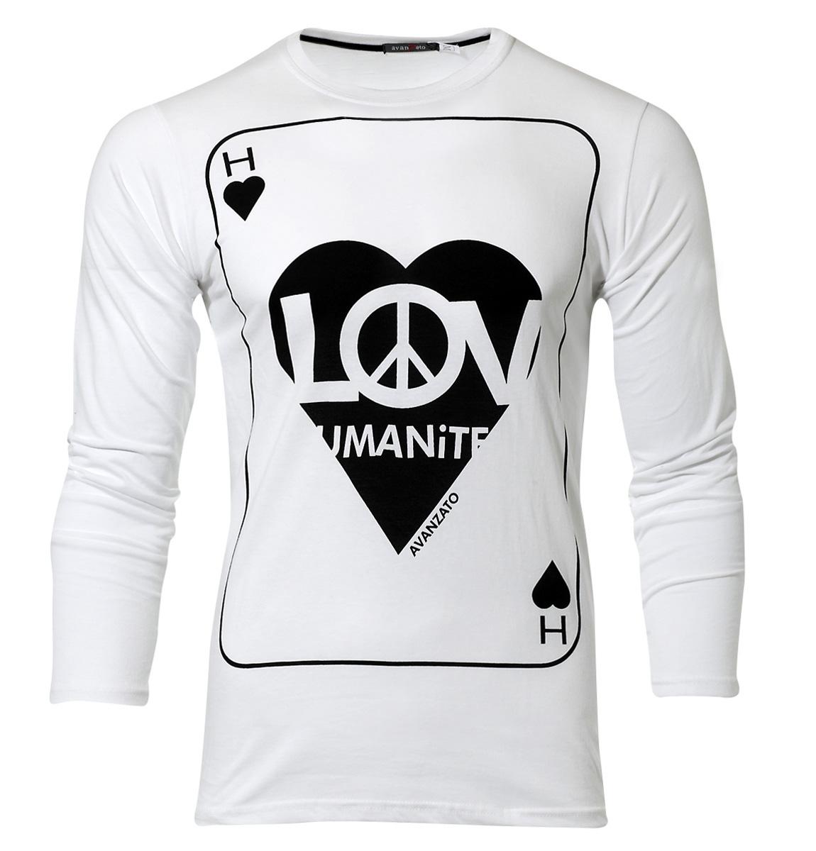 Ανδρική Μπλούζα Love-Άσπρο αρχική ανδρικά ρούχα μπλούζες