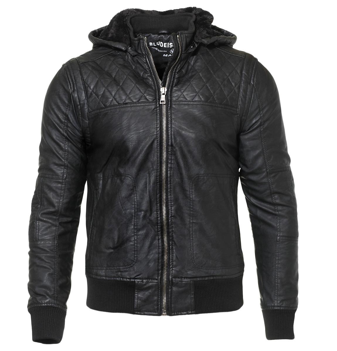 Ανδρικό Μπουφάν Bludeish Black αρχική ανδρικά ρούχα μπουφάν