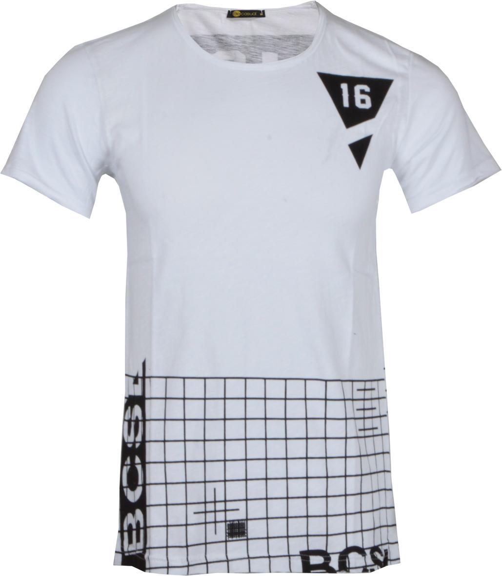 Ανδρικό T-Shirt Becasual Lines αρχική ανδρικά ρούχα t shirts
