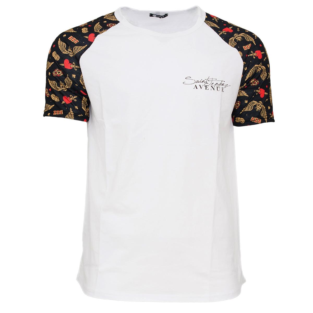 Ανδρικό Τ-shirt Becasual Saint Tropez-Άσπρο αρχική ανδρικά ρούχα t shirts