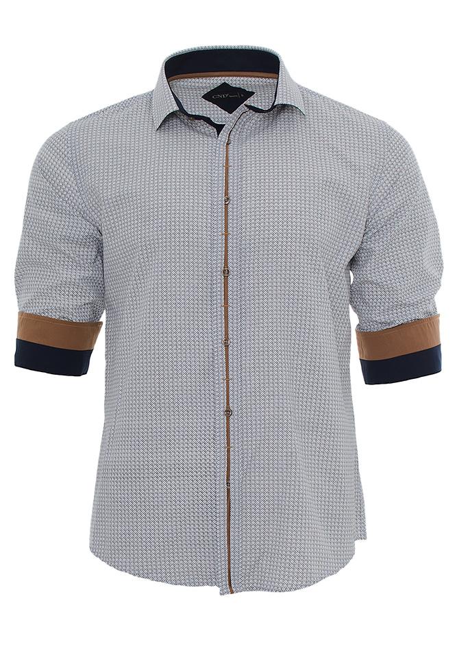 Ανδρικό Πουκάμισο CND Brown Placket αρχική ανδρικά ρούχα επιλογή ανά προϊόν πουκάμισα