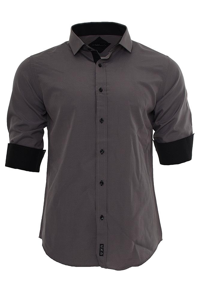 Ανδρικό Πουκάμισο CND Grey Black αρχική ανδρικά ρούχα επιλογή ανά προϊόν πουκάμισα