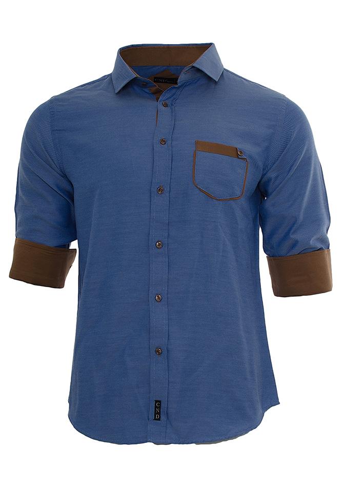 Ανδρικό Πουκάμισο CND Brown Pocket αρχική ανδρικά ρούχα πουκάμισα