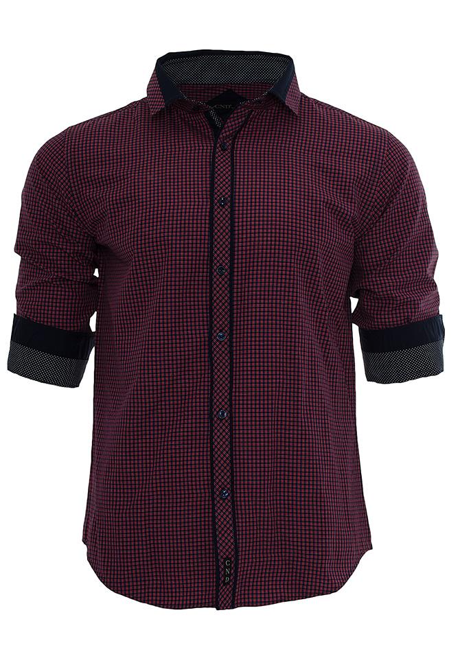 Ανδρικό Πουκάμισο CND Bordo Καρό αρχική ανδρικά ρούχα πουκάμισα