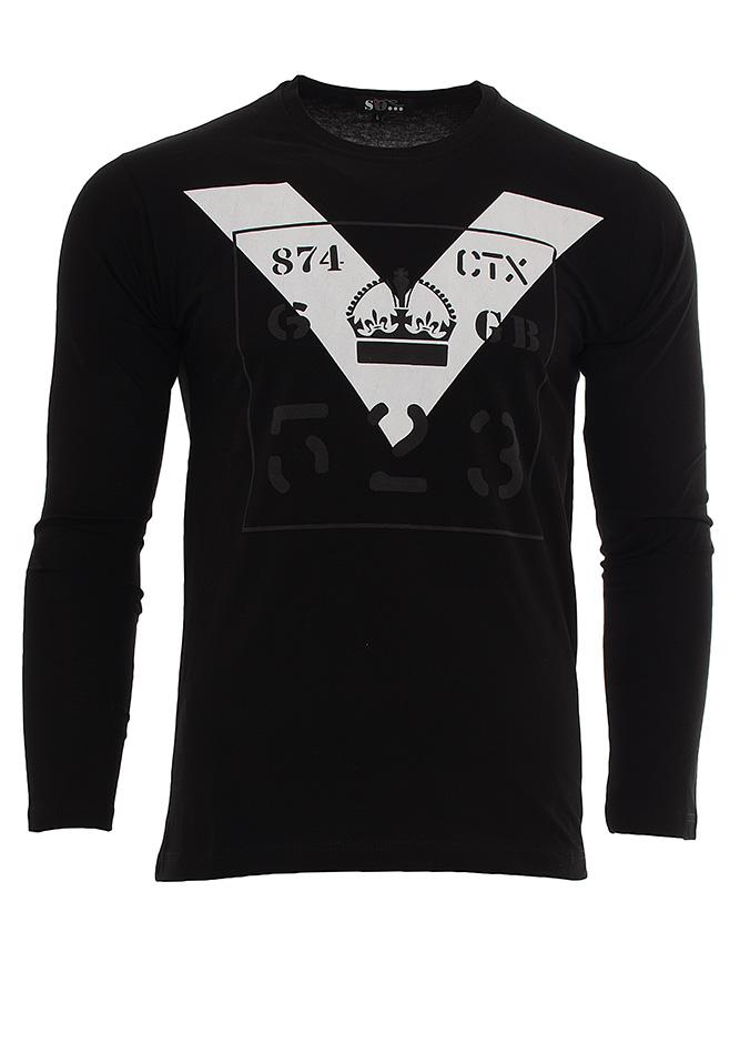Ανδρική Μπλούζα Crown Black αρχική ανδρικά ρούχα μπλούζες