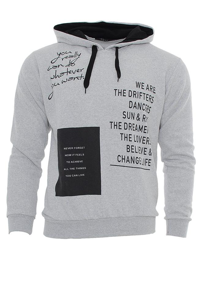 Ανδρικό Φούτερ The Dreamers Grey αρχική ανδρικά ρούχα φούτερ