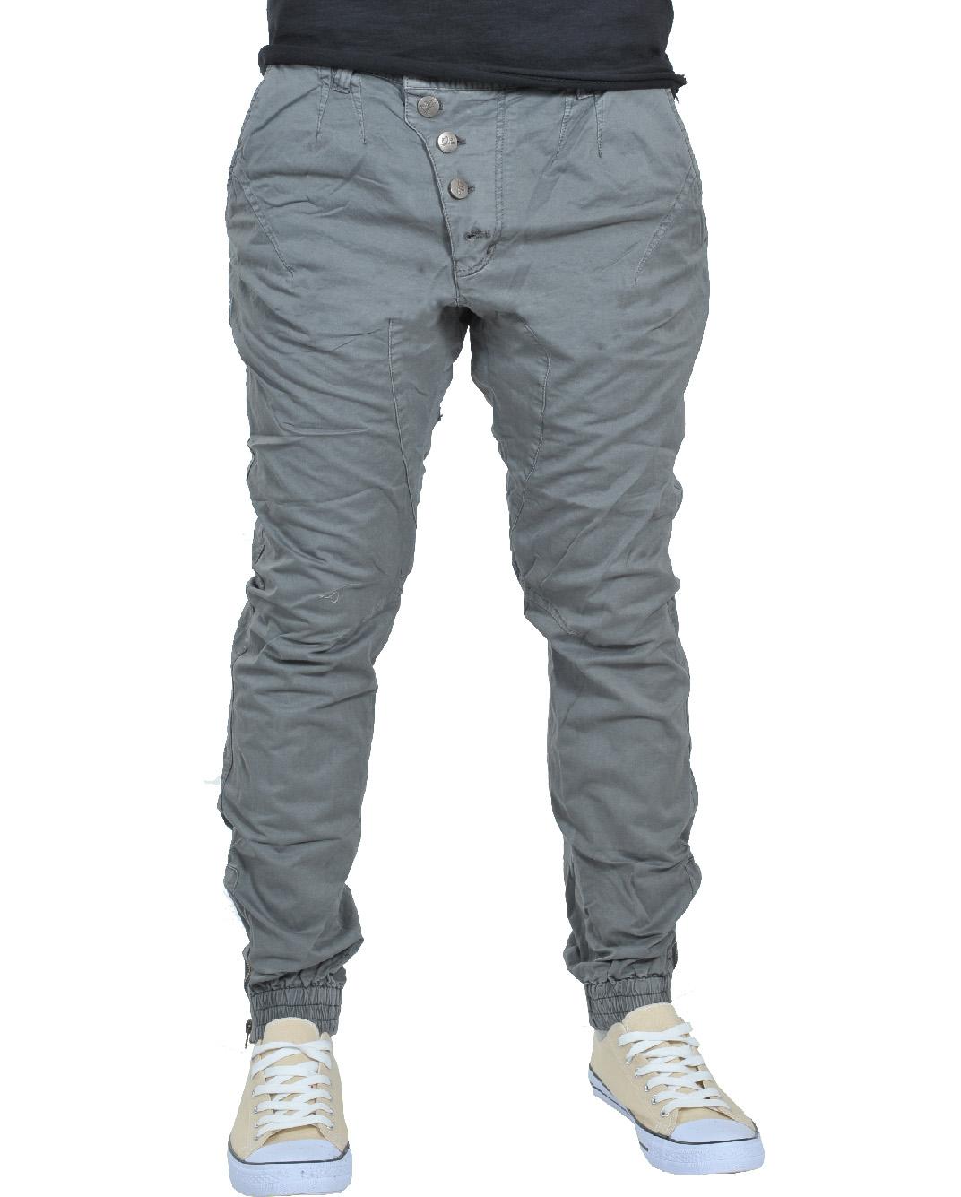 Ανδρικό Chino Παντελόνι Grey Crooked-Γκρι αρχική ανδρικά ρούχα παντελόνια παντελόνια chinos
