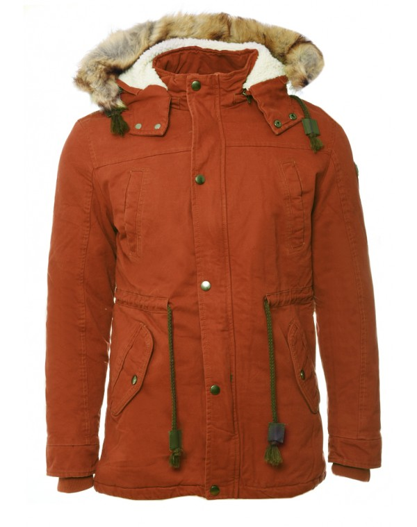 Ανδρικό Μπουφάν Parka Party Camel - be-casual.gr a38ead37678