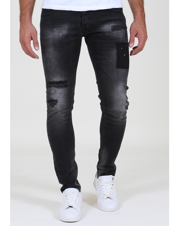 b770583e69ba Ανδρικό Jean Παντελόνι Chase Black - be-casual.gr