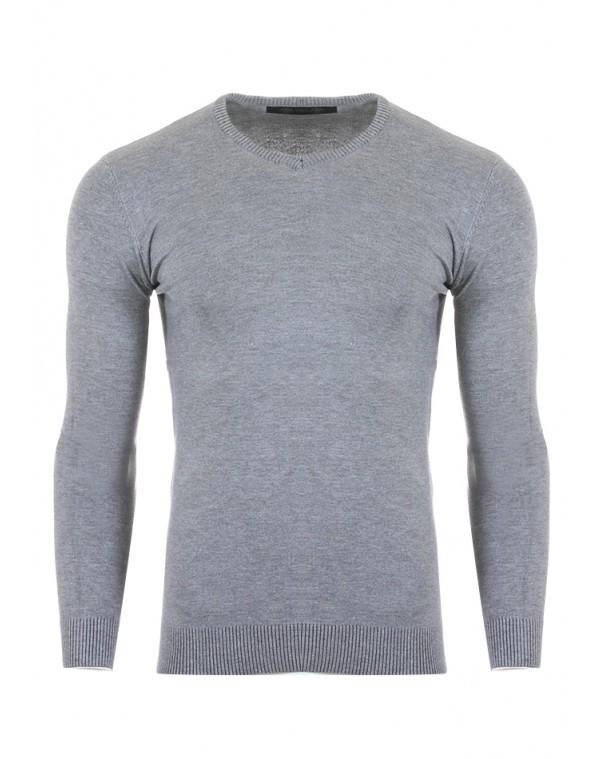 Ανδρική Πλεκτή Μπλούζα Raise Grey - be-casual.gr 4c1df9a849e