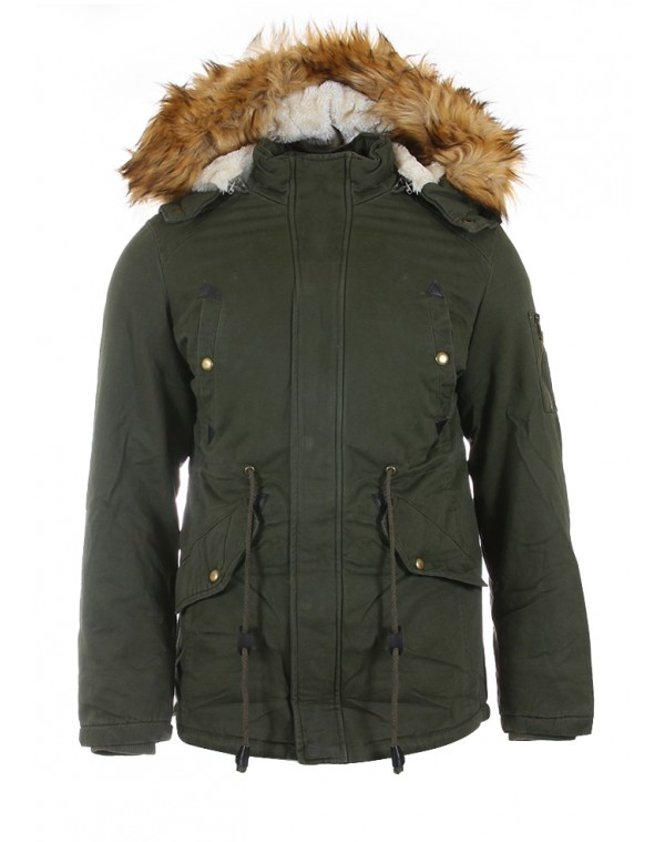 1d7df343bf62 Ανδρικό Μπουφάν Parka Aorist Olive Green - be-casual.gr