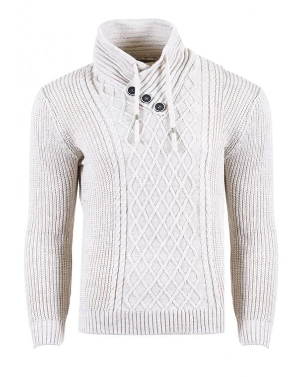 Ανδρική Πλεκτή Μπλούζα Clam Beige - be-casual.gr 0d0e718c3c8