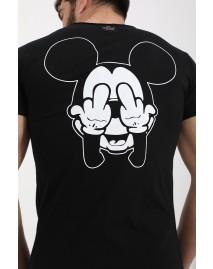 Ανδρικό T-shirt Mickey Back Black