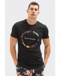 Ανδρικό T-Shirt Flower Black
