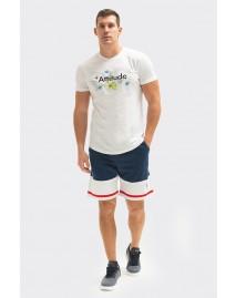 Ανδρικό T-shirt Funny White