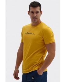 Ανδρικό T-Shirt Plus Mustard