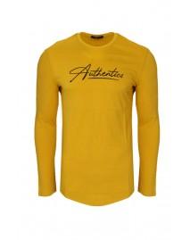 Ανδρική Μπλούζα Authentics Mustard
