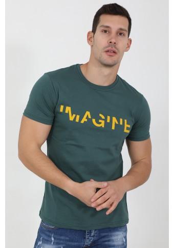 Ανδρικό T-shirt Imagine Petrol