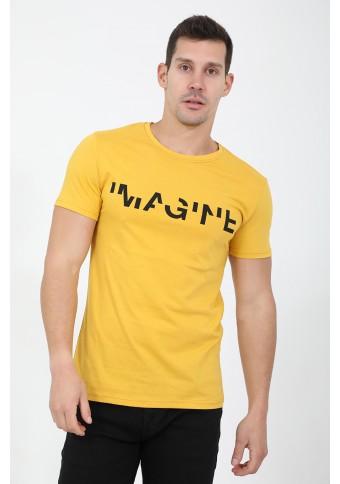 Ανδρικό T-shirt Imagine Mustard