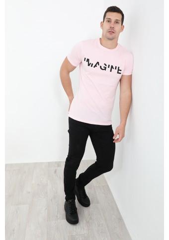 Ανδρικό T-shirt Imagine Pink