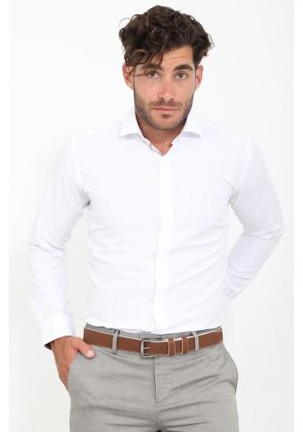 Ανδρικό Πουκάμισο Roll White