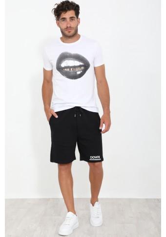Ανδρικό T-shirt Lips White
