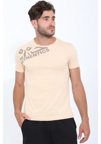 Ανδρικό T-shirt Date Beige