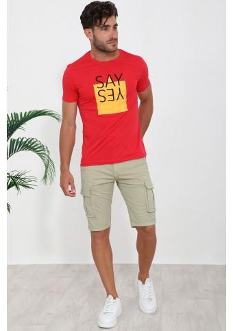 Ανδρικό T-shirt Say Red