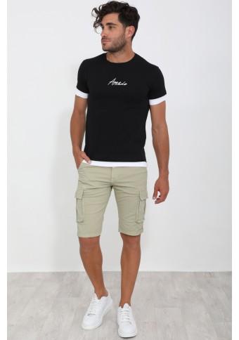 Ανδρικό T-shirt Many Black