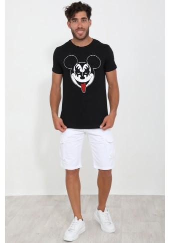Ανδρικό T-shirt Bad Black
