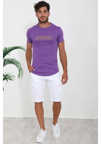 Ανδρικό T-shirt Fine Purple