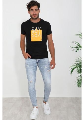 Ανδρικό T-shirt Say Black