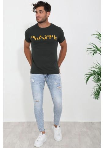 Ανδρικό T-shirt Imagine Khaki