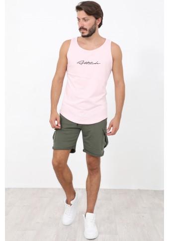 Ανδρικό Αμάνικο T-shirt Run Pink