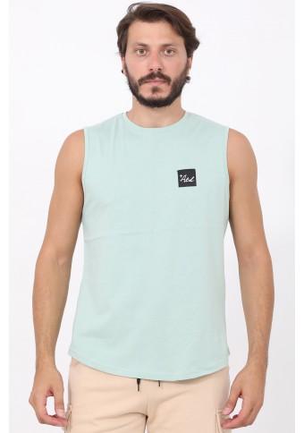Ανδρικό Αμάνικο T-shirt Lucky Mint