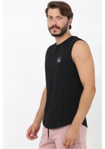 Ανδρικό Αμάνικο T-shirt Lucky Black