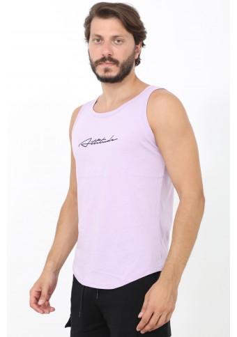 Ανδρικό Αμάνικο T-shirt Run Lila