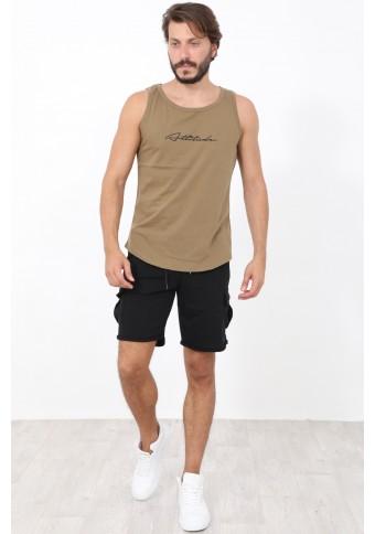 Ανδρικό Αμάνικο T-shirt Run Khaki