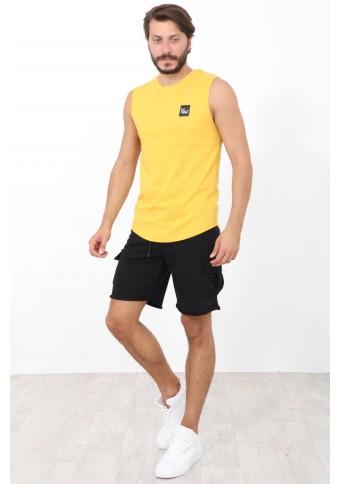 Ανδρικό Αμάνικο T-shirt Lucky Mustard