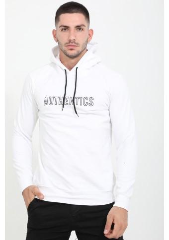 Ανδρικό Φούτερ Authentics White