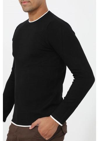 Ανδρική Πλεκτή Μπλούζα Quick Black